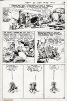 KUBERT, JOE - Our Army At War #193 pg 10, Sgt Rock sees Farmer going off the deep end over his potted seeds Comic Art