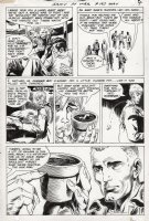 KUBERT, JOE - Our Army At War #193 pg 4, Sgt Rock is shown the flower pot, crucial to the story Comic Art