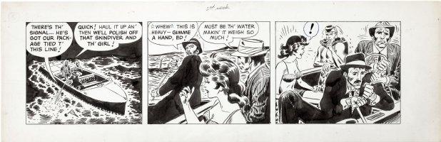 KUBERT, JOE - Davy Jones tryout W2 daily #5, Davy tricks hoods & saves gal 1960 Comic Art
