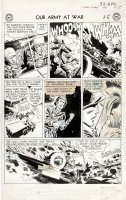 KUBERT, JOE - Our Army At War #33 lrg pg, pre-Rock, with uncensored art  Comic Art