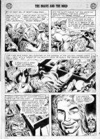 KUBERT, JOE - Brave & Bold #24 large pg 2, King, Viking Prince, viking fight Comic Art