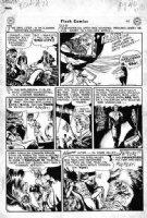 KUBERT, JOE - Flash Comics #71 large Hawkman published! pg, 1st app Bird People from JSA, 1946 Comic Art