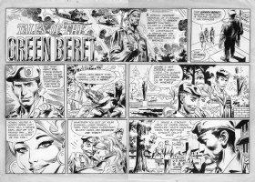 KUBERT, JOE - Tales of Green Beret Sunday 10/1 1967 Comic Art