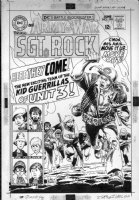 KUBERT, JOE - Our Army At War #194 cover, Sgt Rock & orphan guerrillas 1960s Comic Art