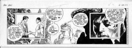 KUBERT, JOE - Big Ben Bolt daily 6-28 1977, Ben & native boxer in classic South-West scene Comic Art