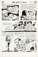 KUBERT, JOE - Our Army At War #132 2-up pg 9, Sgt Rock & orphan ala Lone Wolf & Cub Comic Art