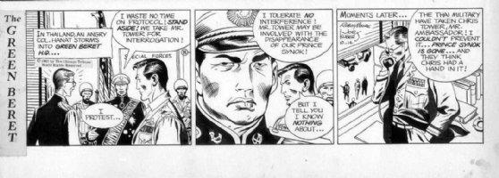 KUBERT, JOE - Tales of Green Beret daily, 10/14 1967, Beret HQ in Thailand Comic Art