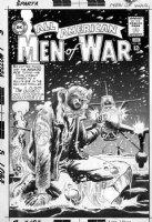 KUBERT, JOE - All American Men Of War #104 2-up cover, Lt. Johnny Cloud on ice vs Nazi ace 1964 Comic Art