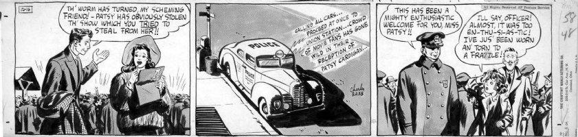 SICKLES, NOEL / RAAB - Adventures of Patsy daily, on craft-tint board 12/16 1940  Comic Art