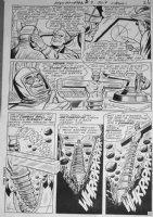 TRAPANI, SAL / CHARLES PARIS - Metamorpho #7 2-up pg 22, Meta as human-drill, 1966 Comic Art