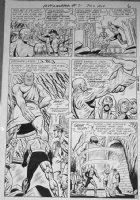 TRAPANI, SAL / CHARLES PARIS - Metamorpho #7 2-up pg 5, Meta & crew enter volcano, 1966 Comic Art