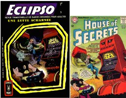 TOTH, ALEX homage - Eclpso #5 French painted cover 1968, based on House of Secrets #67 Eclipso cover & Splash Comic Art