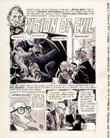 ALEX TOTH - Eerie Mag #1 1st Warren art pg 1 splash, Cousin Eerie introduces  Comic Art