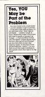 TOTH, ALEX - SSAM Military Newspaper Sunday Illo #6, Bikini model showroom 1981 Comic Art