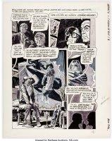 ALEX TOTH - Eerie Mag #1 1st Warren art pg 3,  Vision of Evil,  1966 Comic Art