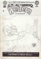 TOTH, ALEX - All-American Western #109 pencil cover,  Johnny Thunder 1949 Comic Art