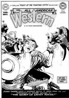 TOTH, ALEX - All American Western #109 large cover, Johnny Thunder  Comic Art