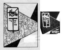 TOTH, ALEX - Alex Toth by Design, first book cover art, crowd w/ Batman Zorro + Shadow + Thing 1996 Comic Art