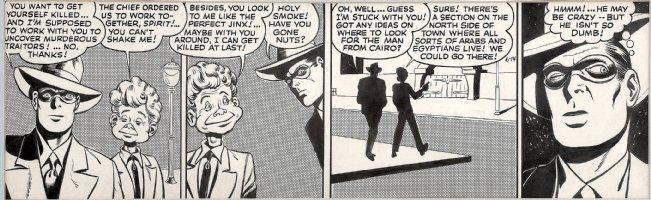 COLE, JACK / GIL FOX inks - Eisner' Spirit Daily 1943, Spirit & Lucky Chance Comic Art