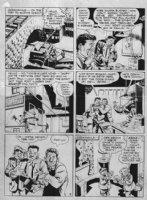 EISNER, WILL - Spirit Sunday May 12-1946 pg 4, Spirit battles thugs while Ebony infiltrates criminal gang Comic Art