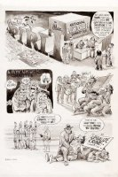 EISNER, WILL - Spirit  The Underground  #1 1-PG Story, final Spirit Sunday  legalize crime committee  Comic Art