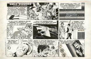 MORROW, GRAY - Buck Rogers Sunday, Wilma in space + thief sneaks in 12/27 1981 Comic Art