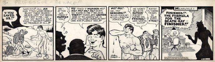 CAPP, AL - Lil' Abner 12/6 1939 daily, Abner saves his killers, coed spy pulls gun Comic Art