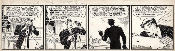 CAPP, AL - Lil' Abner 12/9 1939 daily, coed spy steals Abner's formula  Comic Art