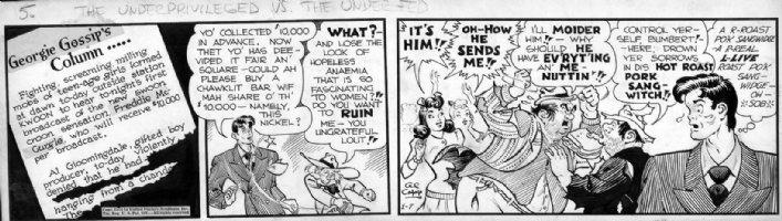 CAPP, AL - Lil' Abner daily 1/7 - 1944 - Sinatra satire   Comic Art