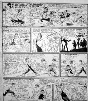CAPP, AL - Lil' Abner Sunday 7-6 1947, Abner, Scraggs Comic Art