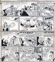 CAPP, AL - Lil Abner Sunday, Yokums & Blonde heiress marries Ape, Mammy beats Pappy 11/11 1951 Comic Art