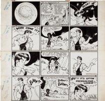 CAPP, AL - Li'l Abner Sunday, Abner and moon stones 4-30 1944 Comic Art