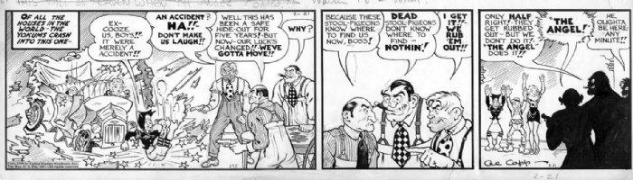 CAPP, AL - Lil' Abner daily 2/21 - 1940 - Yokum' car crash Comic Art