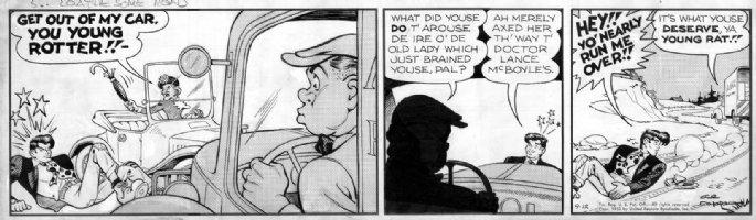 CAPP, AL - Lil' Abner 9/12 1952 daily, Abner run over Comic Art