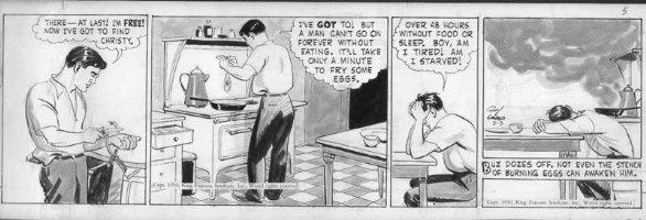 CRANE, ROY - Buz Sawyer daily 3-3 1950 on craft-tint board Comic Art