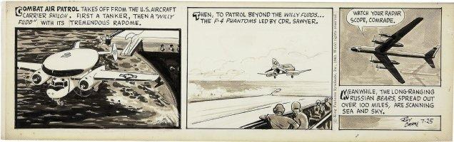 CRANE, ROY - Buz Sawyer daily 7/25 1963, water plane  Comic Art