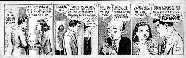 CRANE, ROY - Buz Sawyer daily 6-25-1955 on craft-tint board Comic Art