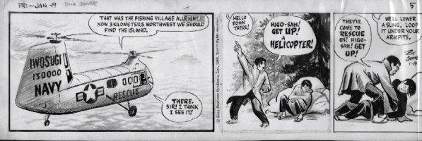 CRANE, ROY - Buz Sawyer daily 11-19- 1962 on craft-tint board  Comic Art