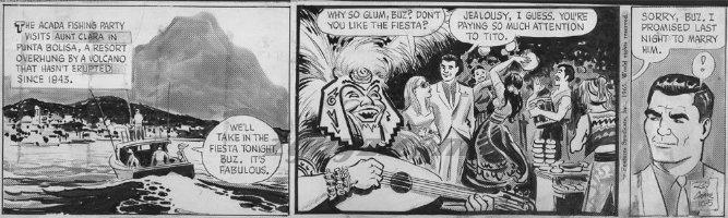 CRANE, ROY - Buz Sawyer daily 10-05 1965 on craft-tint board  Comic Art