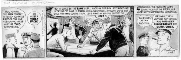 CRANE, ROY - Buz Sawyer daily 11-19-59 Comic Art