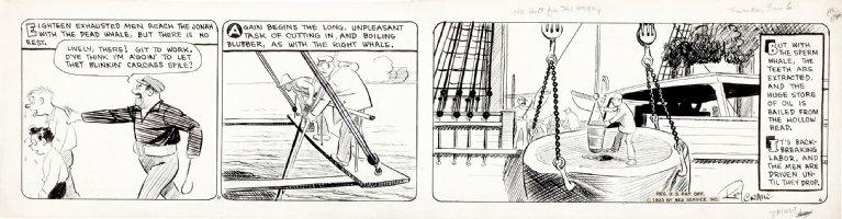 CRANE, ROY - Wash Tubbs daily, Wash & pal in classic whaling ship saga - 6/6 1933 Comic Art
