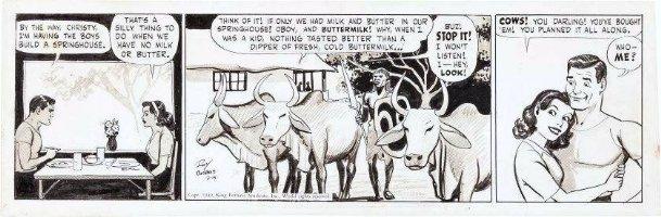 CRANE, ROY - Buz Sawyer daily 3/15 1949 - Buz & gal in Africa Comic Art