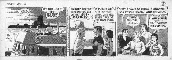 CRANE, ROY - Buz Sawyer daily 1/18 1978, Buz submarine Comic Art