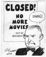 CRANE, ROY - Buz Sawyer's Sweeny cartoon illi for military AFPS C1940s Comic Art