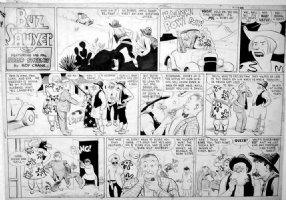 CRANE, ROY - Buz Sawyer Sunday 12/16 1945, western gunplay Comic Art