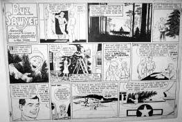 CRANE, ROY - Buz Sawyer Sunday 12-17-44  Comic Art