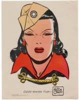 CANIFF, MILTON - Terry & Pirates print: Dragon Lady - Milt hand-signed 1946 Comic Art
