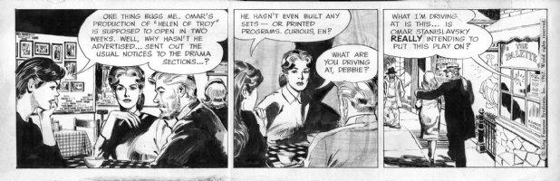ADAMS, NEAL / STAN DRAKE - Juliet Jones 1/30 1967, Julie & Broadway plot Comic Art