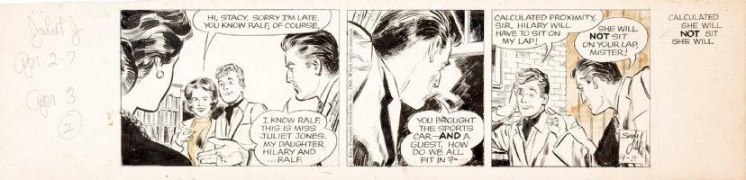 DRAKE, STAN - Juliet Jones daily, Julie meets the folks  4/3 1962 Comic Art