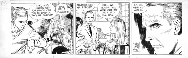 DRAKE, STAN - Juliet Jones 4/16 1968, Eve on the set Comic Art
